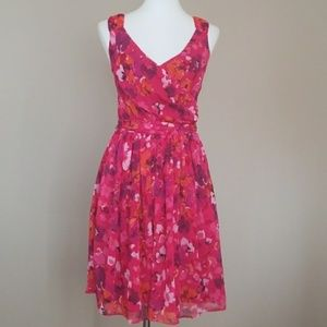 3 for $30  Express Pink Purple Floral Dress